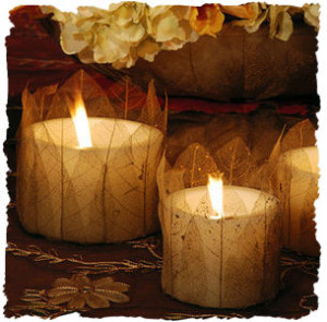 Copy of leafcoveredcandles