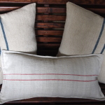 Pillow Talk  – How to Make a Pillow from Antique Grain Bags