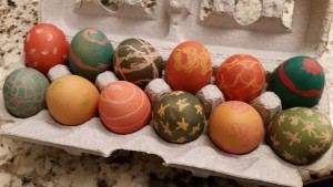 Dyed Brown Easter Eggs