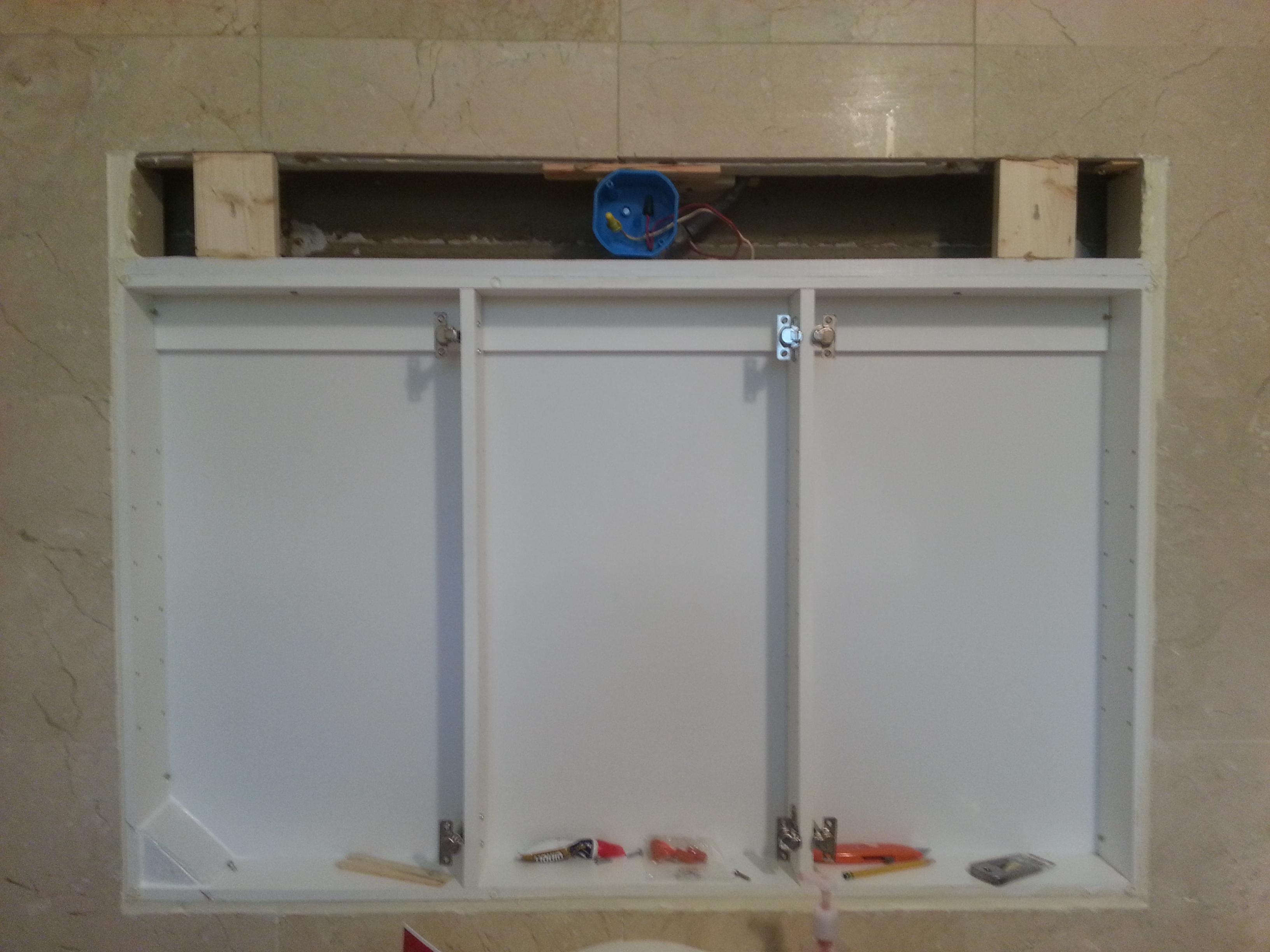 Installing An Outside Medicine Cabinet Inside Hudson Valley Handymom